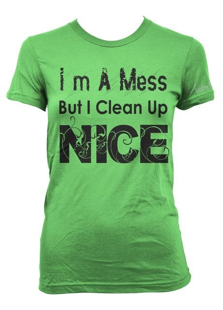 Im A Mess But I Clean Up Nice • T-Shirt